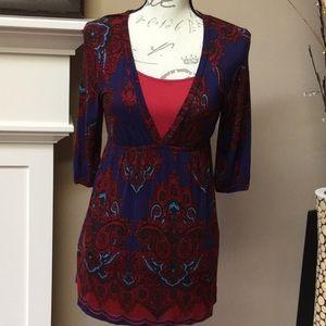 Lush blouse with elastic empire waist